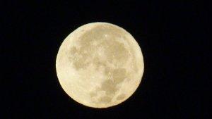 Imatge de la lluna la passada nit des de Gavà