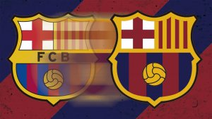 Imatge del nou escut del Barça