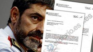 Les cartes filtrades que va enviar Trapero al cap dels jutges i dels fiscals.