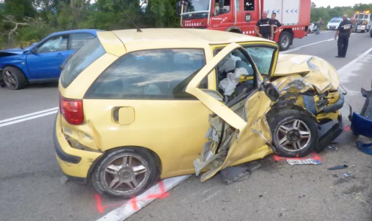 Imatge d'un dels accidents de 2018 a les carreteres catalanes.