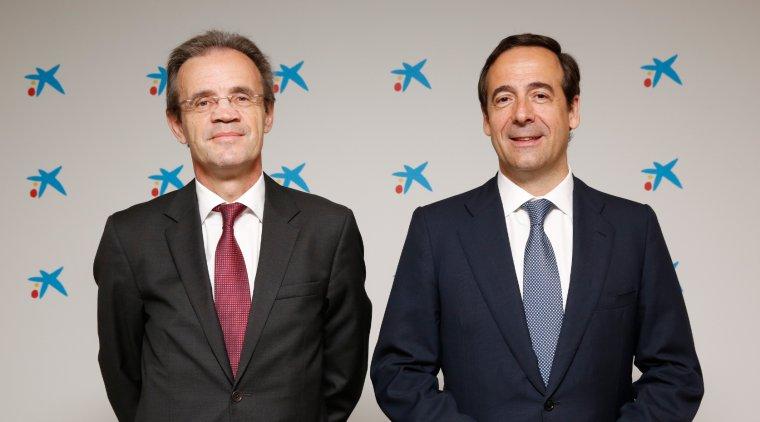 Jordi Gual, president, i Gonzalo Gortázar, conseller delegat de CaixaBank