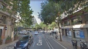 La confulència entre els carrers Casanova i Paris, on va tenir lloc el succés