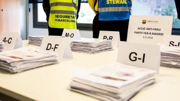 Entrades de l'operació anti-frau articulada pel Barça-Madrid de l'any passat