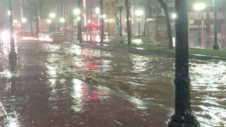 Imatge de les inundacions a Tarragona