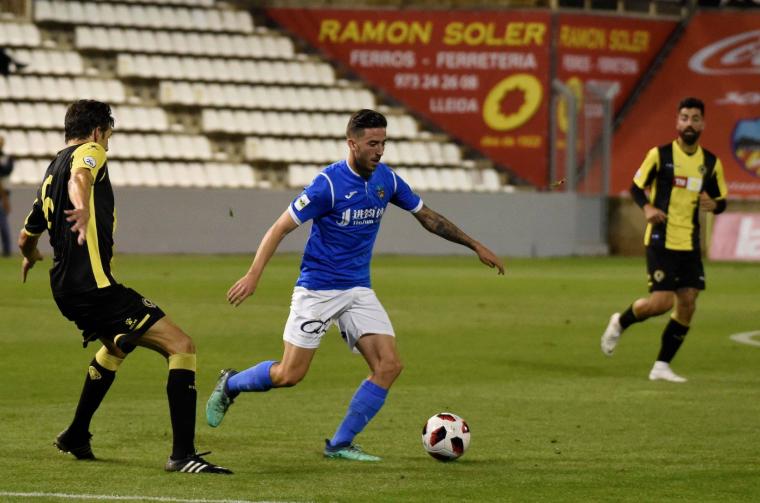 Imatge del partit entre el Lleida i l'Hèrcules.