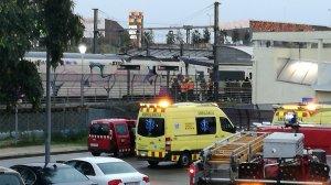 Imatge de l'estació de trens de Viladecans, on una persona ha estat atropellada
