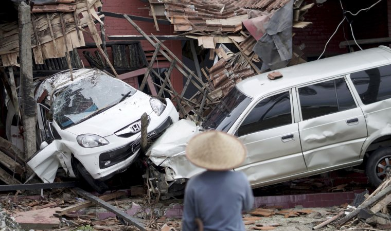 Imatge del rastre de destrucció que ha deixat el tsunami