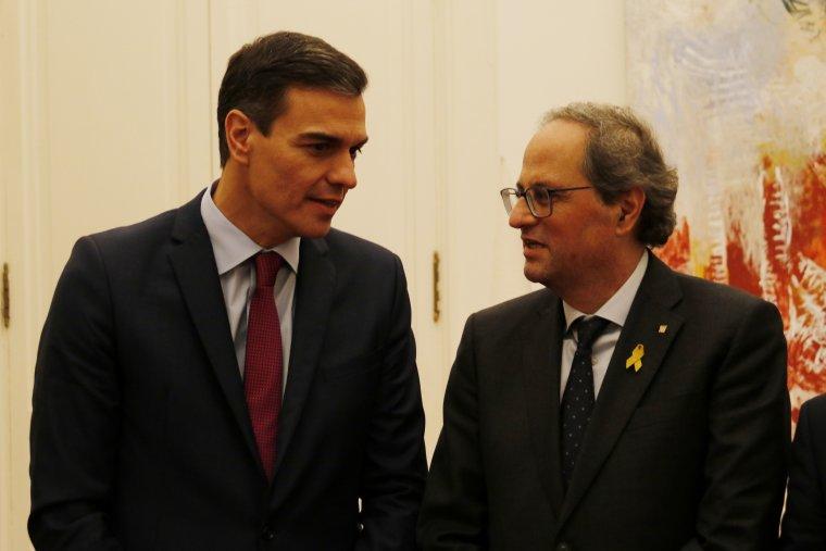 Pedro Sánchez: «Animo la Generalitat a passar de la voluntat de diàleg al diàleg real»