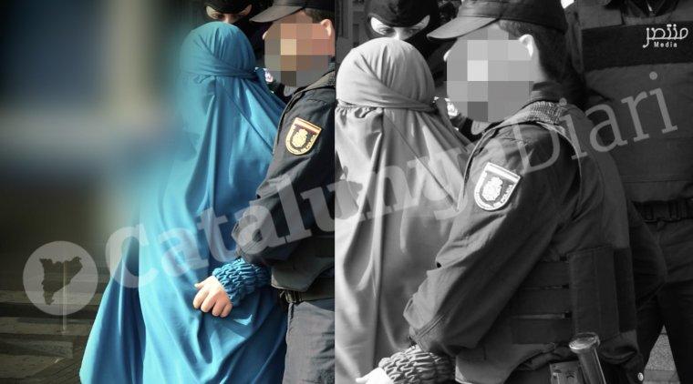 Primers moments del vídeo, amb agents de la Policia Nacional i de la Guàrdia Civil detenint a persones.