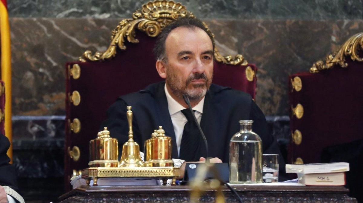 El magistrat Manuel Marchena, durant la vista prèvia del judici del 1-O, el passat 18 de desembre