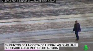 El rètol en què La Sexta assegura que a Lleida hi ha platja
