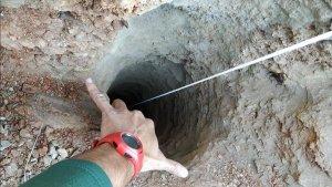 Imatge del pou un s'han trobat restes d'ADN del petit