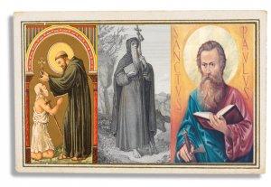 Imatge amb els sants Pau l'Ermità, Maur abat i Antoni Abat