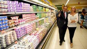 Interior d'un supermercat de la cadena valenciana Mercadona