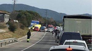 L'accident s'ha produït en un tram de la via que no està desdoblat