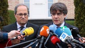 L'Executiu del PDeCAT es va reunir ahir a la Casa de la República de Waterloo