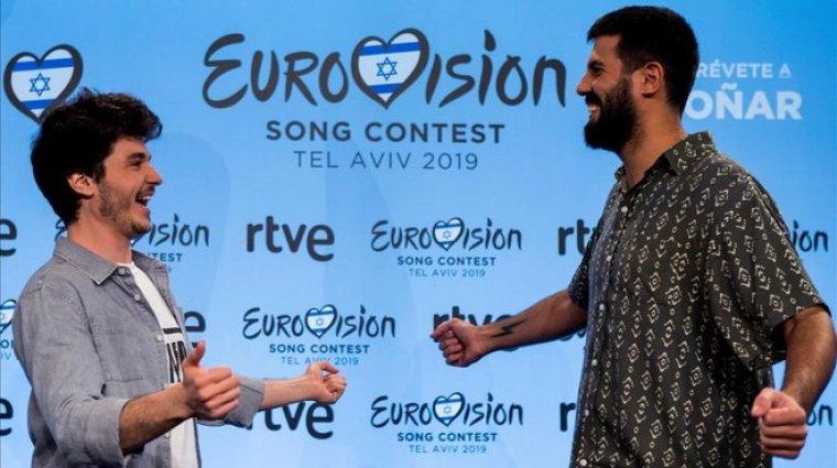 Miki Nuñez i Adrià Salas a eurovisió