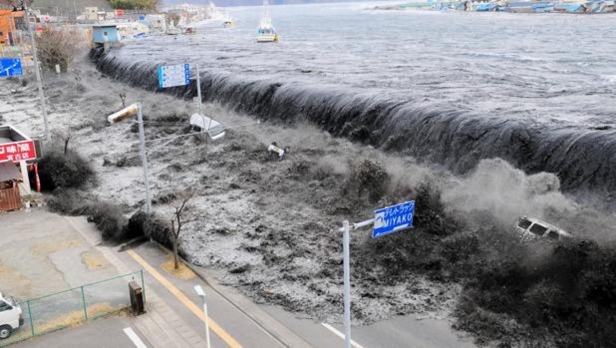 Imatge del greu tsunami de l'any 2011 al Japó