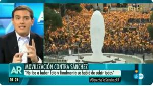 Albert Rivera, a 'El Programa de Ana Rosa', comentant la situació dels presos sobiranistes