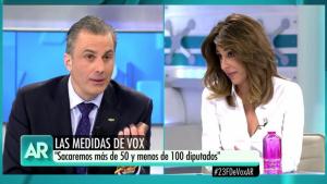 Ana Terradillos s'encara amb el secretari general de Vox, Ortega Smith