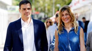 Begoña Gómez i Pedro Sánchez en la Fira del Llibre