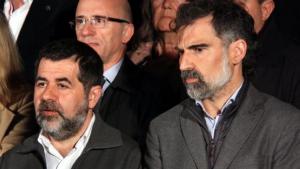 El TC rebutja la posada en llibertat dels dos acusats, Jordi Cuixart i Jordi Sànchez