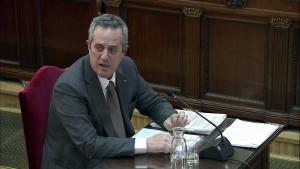 L'exconseller Joaquim Forn durant la seva declaració al Tribunal Suprem