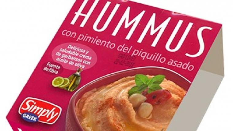Hummus del Mercadona amb pebrot del piquillo a la brasa