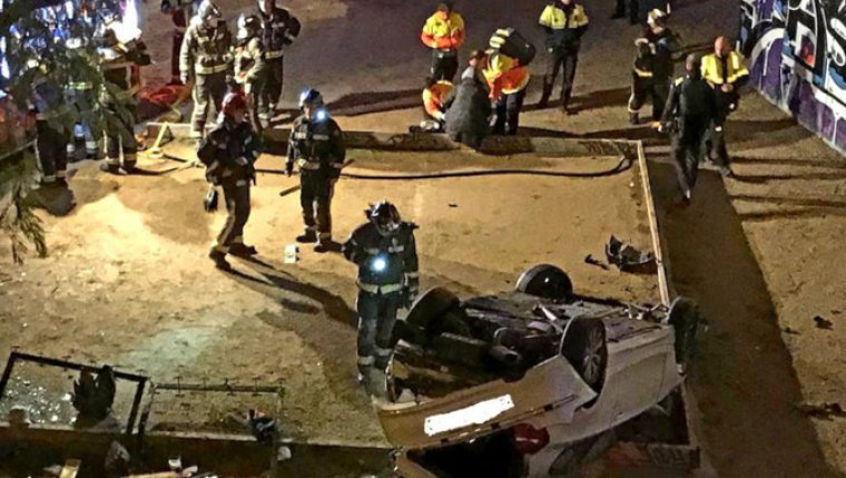 Accident a Barcelona