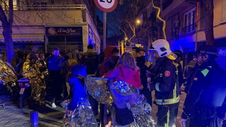 Incendi del 27 de febrer a Barcelona
