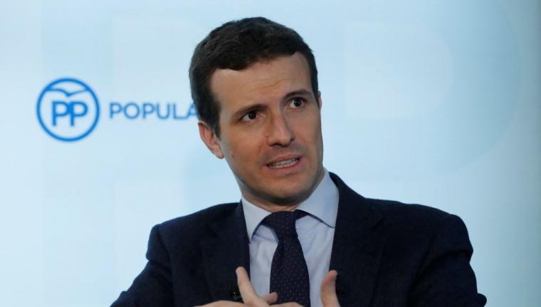 Pablo Casado durant l'entrevista amb l'Agència EFE