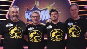 José amb els seus companys, 'Los Lobos', del programa '¡Boom!'