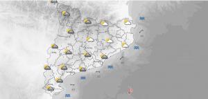 Mapa de la previsió d'aquest dilluns