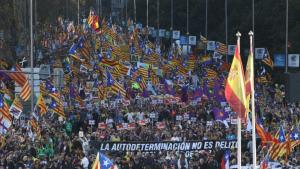 Milers de persones es manifesten a Madrid per protestar contra el judici de l'1-O