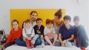 Verdeliss junt amb la resta de la família