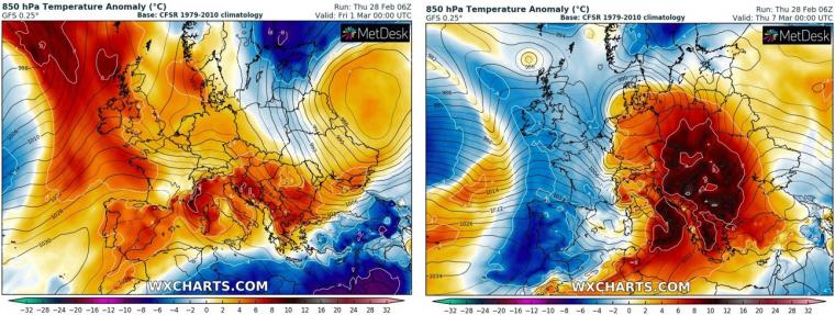 L'ambient molt primaveral farà un gir radical a partir de dilluns, la temperatura baixarà fort fins a valors hivernals