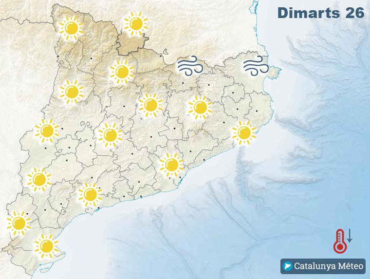 Mapa de previsió per aquest dimarts