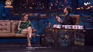 Anitta va ser la convidada del programa de Movistar + 'La Resistencia'