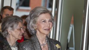 La reina Sofia va lluir una pell radiant en l'acte de l'Agència EFE