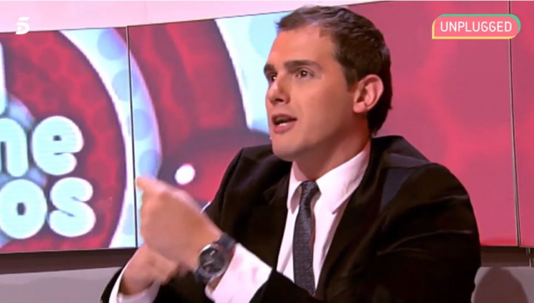 Albert Rivera, jurat del concurs sobre política 'el comecocos' de Cuatro