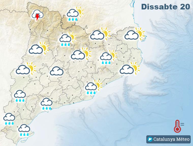 Mapa de previsió per dissabte