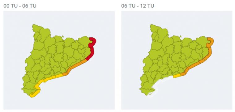 Màxima alerta per onades superiors als 2,5 metres durant el matí de Sant Jordi, a la Costa Brava