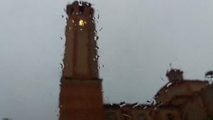 Imatge de la pluja a Gavà aquest matí
