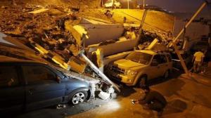 Imatge d'un dels esfondraments al Perú a causa del terratrèmol