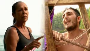 Isabel Pantoja i Omar Montes discuteixen a la platja