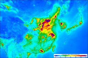 Mapa de contaminació de la Xina