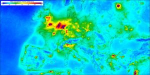 Mapa de la contaminació a Europa