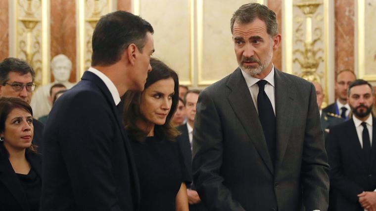 Felip VI i Pedro Sánchez