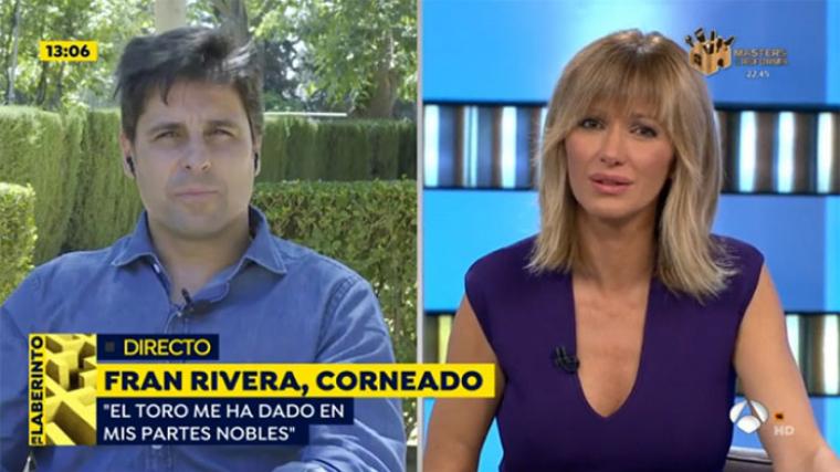Fran Rivera va entrar en directe per explicar com es trobava