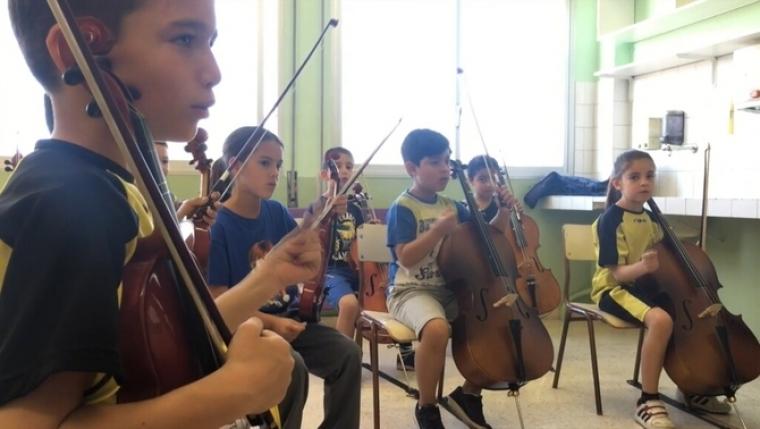 Aula Orquestra de l'escola García Lorca de Santa Margarida de Montbui